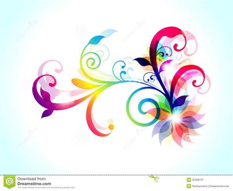 colorful floral design background illustrator vector abstract colorful floral background stock vector image