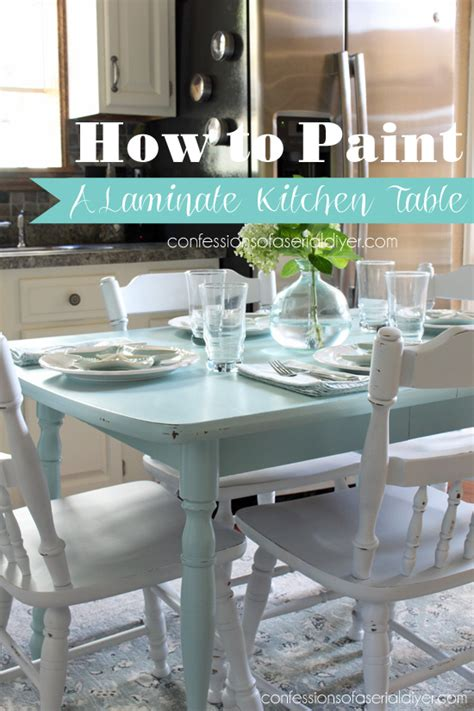 how to paint a kitchen table how to paint a laminate kitchen table confessions of a
