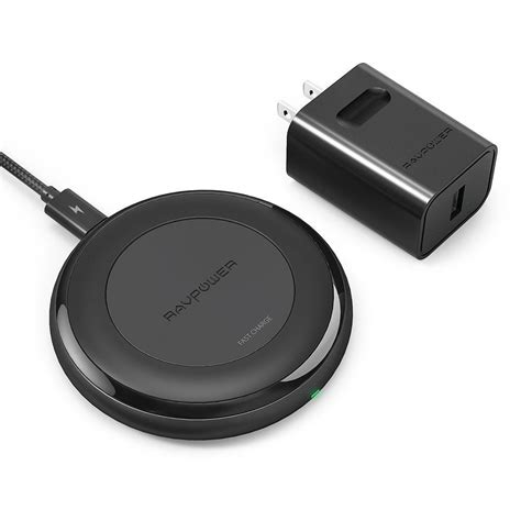 iphone fast charger ravpower iphone 8 8 plus x fast wireless chargers qi qc 3 0 adapter