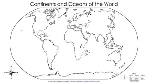 blank world map  fill  continents  oceans archives