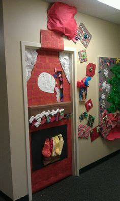 how to decorate doors and chimeny for christmas classroom door decorations chimney happy holidays