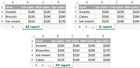 how to sheets consolidate in excel merge sheets into one