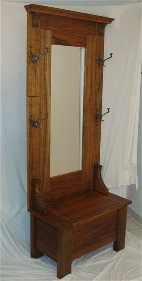 free hall tree bench plans antique hall tree plan wood whisperer week of workbenches