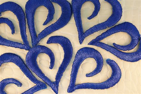 applique iron on navy blue curvy iron on applique appliques 5