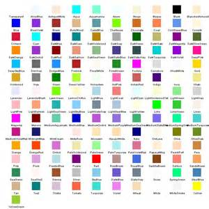 list of color system drawing color color chart
