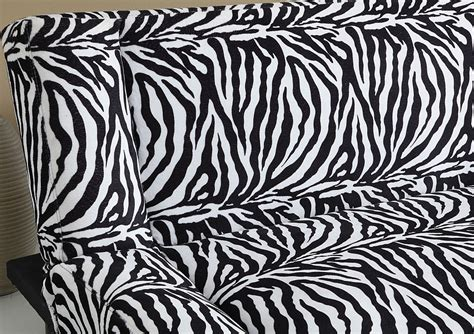 sofas with print fabric zebra print fabric adjustable futon sofa