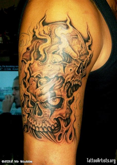 melting skull tattoo melting skulls pictures ripped skin skull