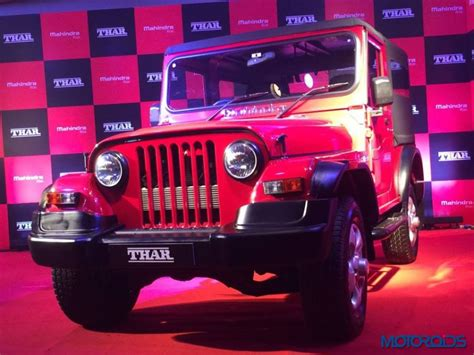 mahindra thar new launch new 2015 mahindra thar crde facelift launched priced at
