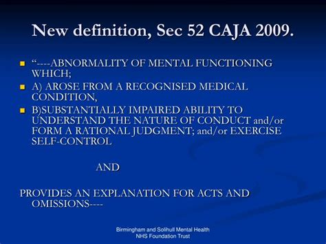 section 52 mental health act ppt is diminished responsibility a psychiatric matter