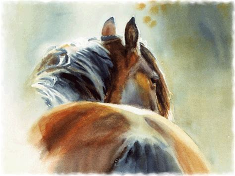 watercolor horse tutorial watercolor paintings of horses bay horse watercolor f1