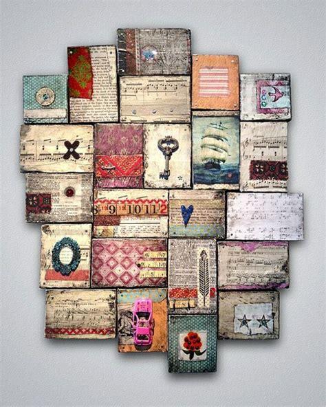 Decoupage Photos On Wood Blocks - 40 verbl 252 ffende ideen f 252 r wanddeko aus holz archzine net