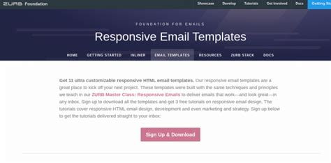 zurb email templates 21 email templates to fully engage your email