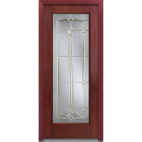R For Front Door Milliken Millwork 32 In X 80 In Bristol Right Lite Classic Stained Fiberglass