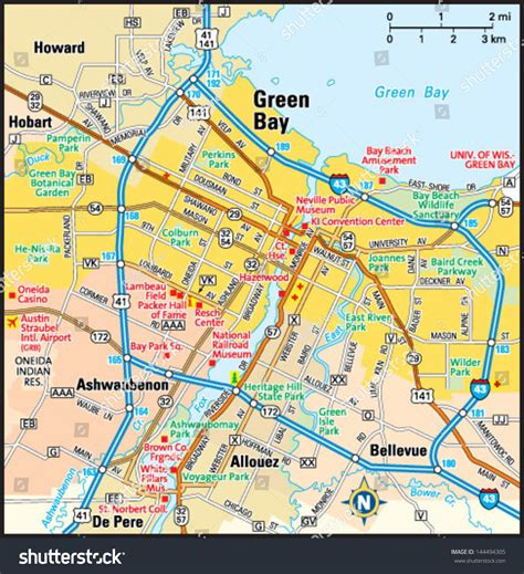 green bay map green bay wisconsin on us map pictures to pin on pinsdaddy