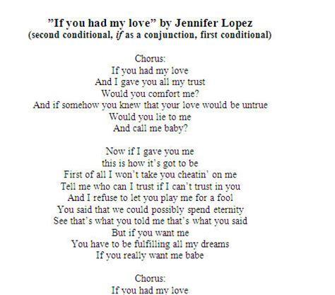 jennifer lopez if you had my love lyrics song worksheet if you had my love by jennifer lopez with