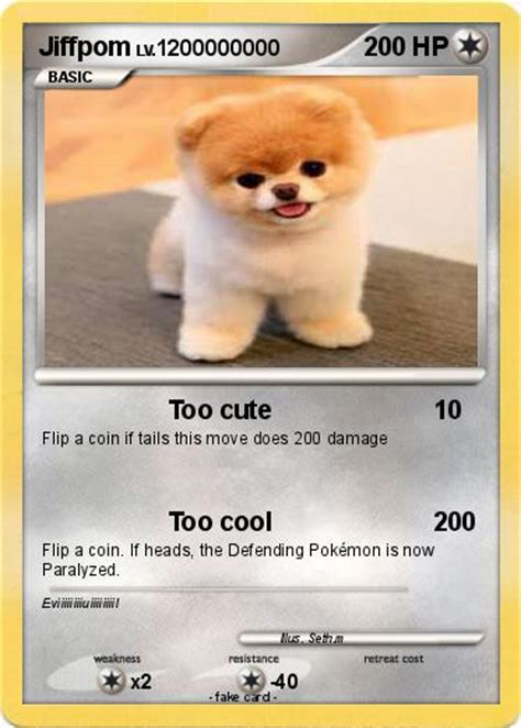 what type of is jiffpom pok 233 mon jiffpom my card