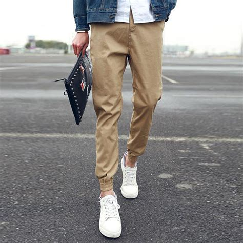 aliexpress joggers khaki joggers mens sweatpants tapered pants men s cuffed