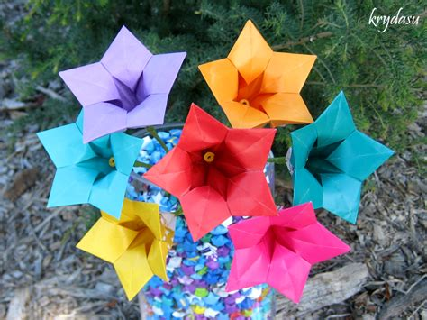Origami Balloon Flower - krydasu origami balloon flowers