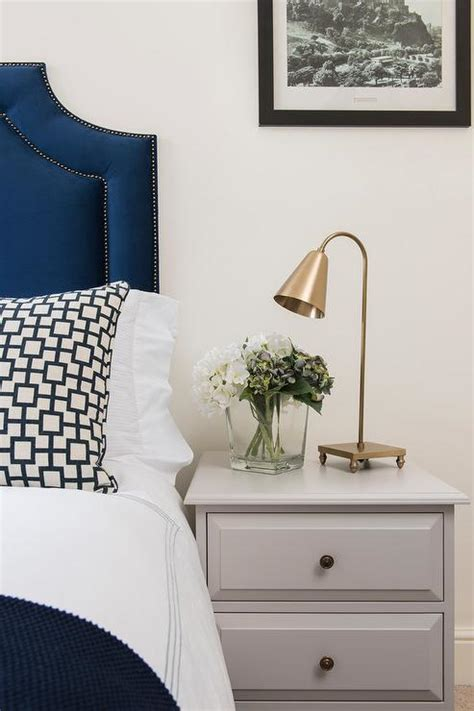 bedroom kid bedding and white headboard with nightstand blue velvet headboard and gray nightstand transitional