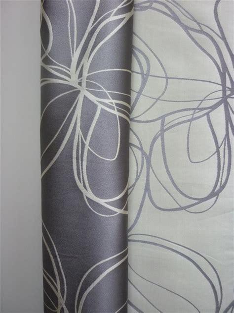 vorhangschals blickdicht deko stoff gardine vorhang modern gemustert silber grau