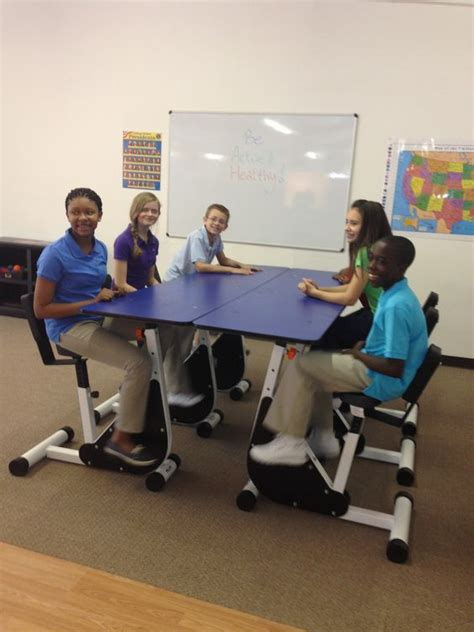 kinesthetic classroom pedal desks the 6 person pedal desk by kidsfit great for students