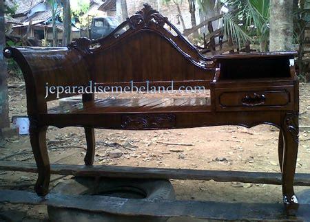 Bangku Sofa Jati Paradise meja telepon kayu jati pesanan ibu warsiti balekambang