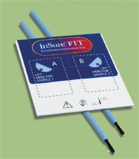 Ifob Stool Test by Test Kit Insure Fit Colorectal Cancer Screen Fecal