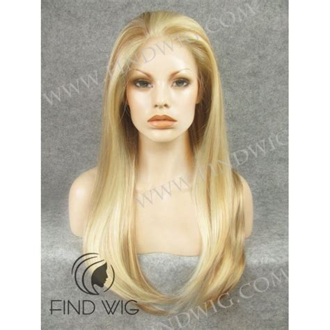 blonde highlighted wigs straight highlighted blonde long lace front wig buy wigs