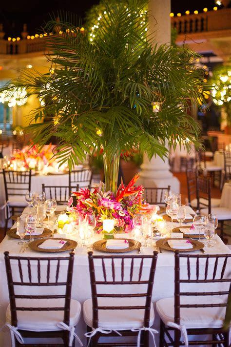 tropical wedding centerpiece elizabeth designs the wedding