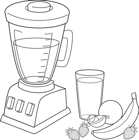 kitchen mixer coloring page fruit smoothies coloring page free clip art