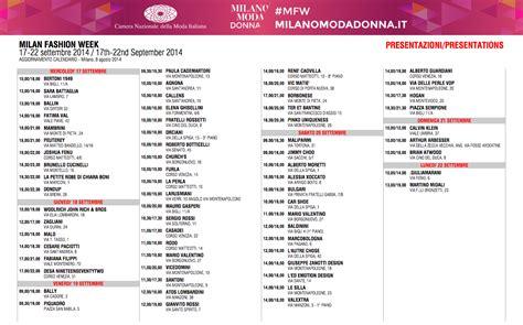 nazionale della moda calendario moda donna dal 17 all 22 settembre 2014 il