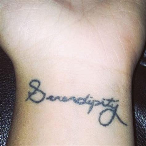 wrist tattoo script serendipity small script wrist black