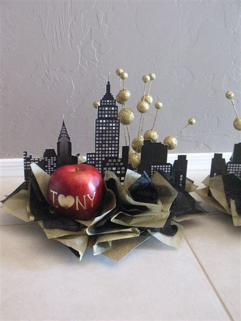 nyc themed decorations centerpiece optinons theme new york