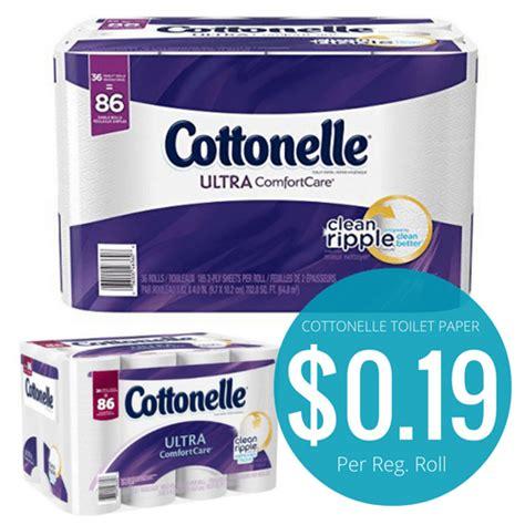 Who Makes Cottonelle Toilet Paper - cottonelle ultra comfortcare toilet paper 0 19 per reg roll