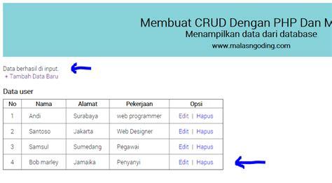 membuat database sederhana dengan php mysql membuat crud dengan php dan mysql input data part 2