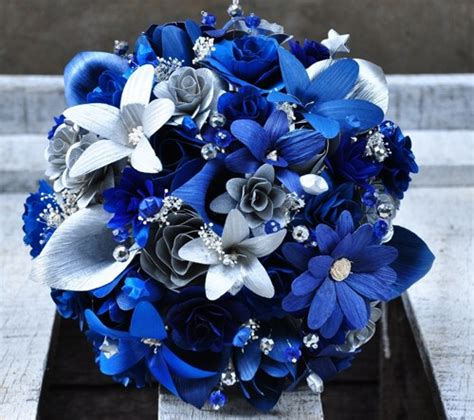 Attractive Christmas Wreaths Wholesale #5: Silver_blue_starry_starry_night_wedding_bouquet_5174dbc3.jpg