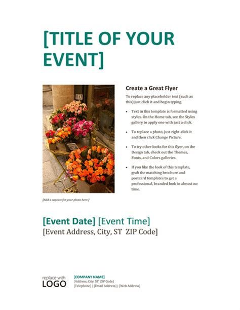 event poster template event poster template word documents