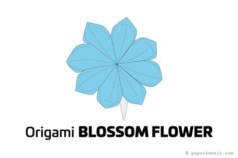 Pretty Origami - how to make a pretty origami blossom flower