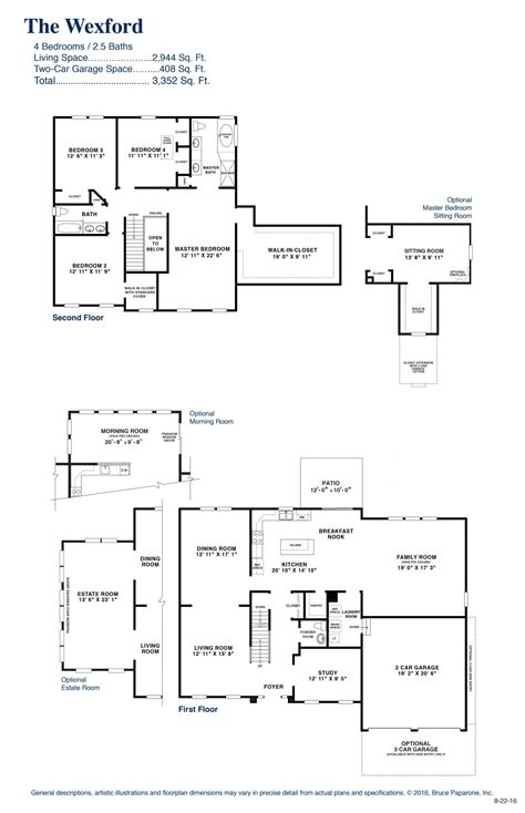 homes wexford floor plan the wexford fox hunt paparone homes