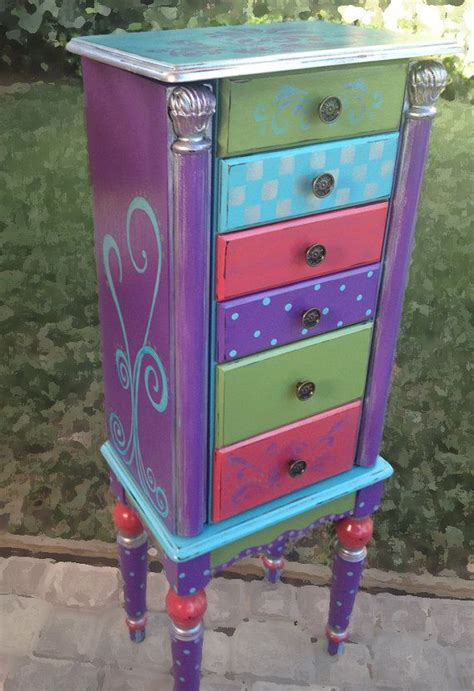 painted jewelry armoire jewelry armoire rapunzel painted rich purple fern green