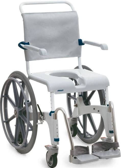 wheelchair shower chair aquatec self propelled shower and commode wheelchair