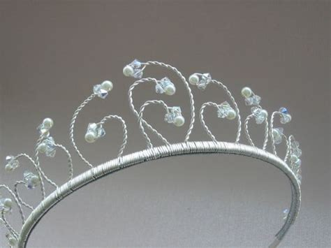 Handmade Tiaras Uk - handmade swarovski and pearl wedding tiara bridal