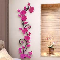 3d flower removable vinyl quote diy wall sticker decal fashion modern diy decorative mural pvc girl butterfly