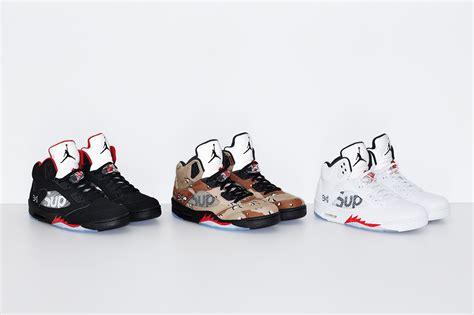 supreme retailers supreme x air 5 collection