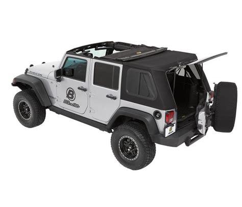 hybrid jeep wrangler jeep 2009 wrangler trektop pro hybrid soft top bestop