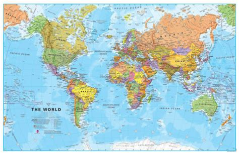 Small World Map by Small World Wall Map Political Wm007a Maps International
