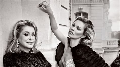 vanity fair kate moss photo kate moss and catherine deneuve in their