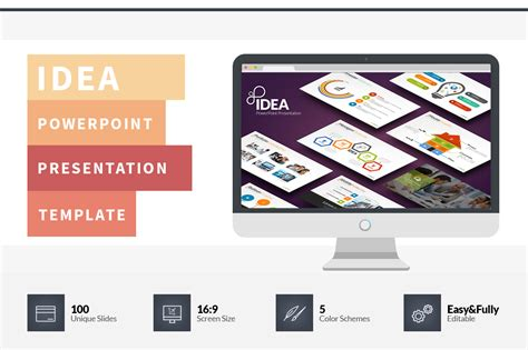 powerpoint template ideas idea flat powerpoint presentation template on behance