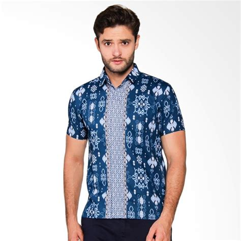 Baju Batik Pria Model Kemeja Slimfit Harga Terjangkau Bagus jual adiwangsa model slim fit modern baju kemeja batik pria 009 harga kualitas