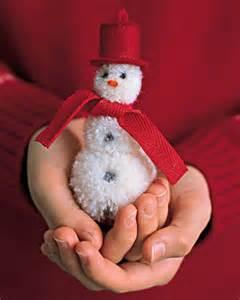 homemade pom pom snowman shelterness